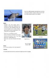 English Worksheet: What do yo know about ARGENTINA? 3