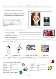 English Worksheets: Weekend homework worksheet including to be, general questions, plurals, numbers  and nationalities.