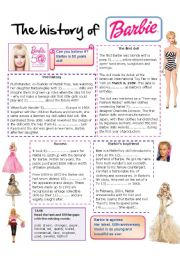English Worksheets: History of Barbie