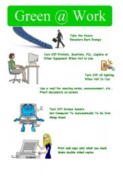 English Worksheets: Green@work