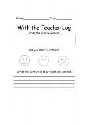 English Worksheets: Sations log