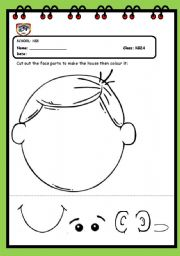 English Worksheet: face parts