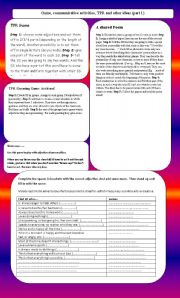 English Worksheet: games, TPR and communicative activities (part 1)