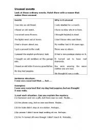 English Worksheets: unusual events