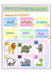 English worksheet: Walking Through the Jungle (Storybook Workshee)