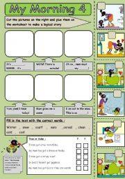 English Worksheets: morning routine 4