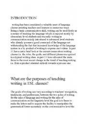 English Worksheets: efl writing product process