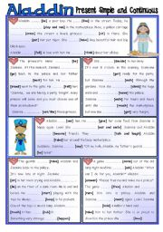 English Worksheet: Fairy Tales/ Stories (15) - ALADDIN