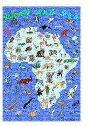 English Worksheet: I Spy Land and Sea: African Animals and Ocean Creatures