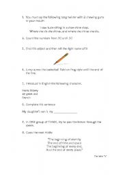 English Worksheets: Rally competition 1