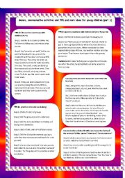 English Worksheet: TPR, Games and communicative activities for young children (part1)