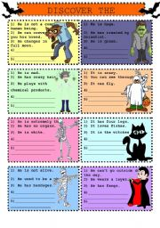 English Worksheet: Discover the Character