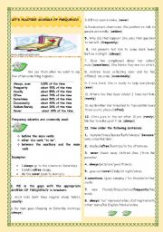 English Worksheets: LET�S PRACTISE ADVERBS OF FREQUENCY!