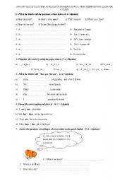 English Worksheets: 6.th grades