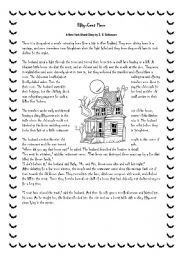 worksheet: a halloween story