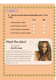 English Worksheets: Meet the stars!!! J LO