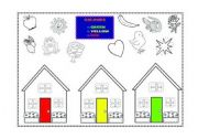 English worksheet: Colours - red, yellow, green