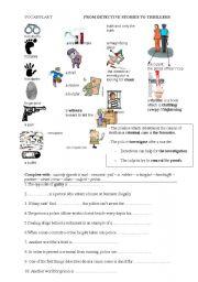 English Worksheet: detective strory vocabulary