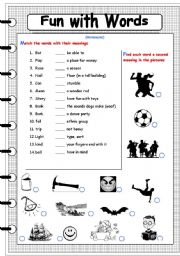 English Worksheet: fun with words 8