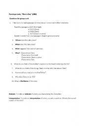 English Worksheets: Questions for Clara�s Day