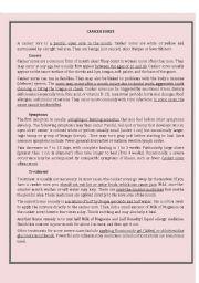 English Worksheets: Canker sores