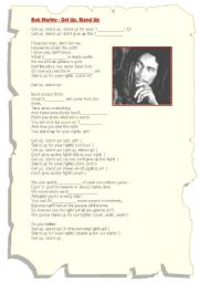 English Worksheet: 2 songs (Bob Marley & Ten Years After)