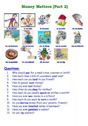 English teaching worksheets: English money