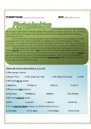 English Worksheets: plankton
