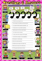 English Worksheets: Questions and Answers Part 1