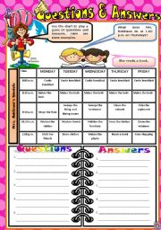 English Worksheets: Questions and Answers Part 2