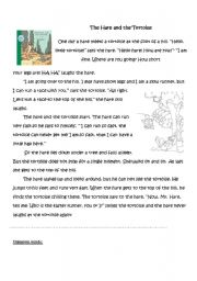 The Hare And The Tortoise Adapted Story Plus Activities Esl