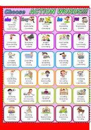 English Worksheets: Action Words!!!