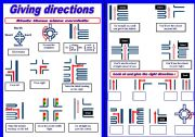 English Worksheet: Giving directions ( How to direct people)