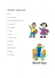 English Worksheets: Farewell expressions