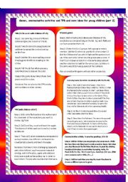 English Worksheet: Game, TPR and communicative activities for young children part 2