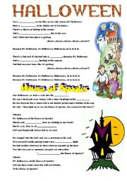 worksheet: Halloween Kids Songs
