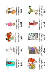 English Worksheet: Read! Spell! Do! playing cards (30 more cards) Adverbs and Adjectives 4