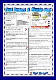 English Worksheet: Past Perfect VS Simple Past