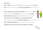 English Worksheets: information about yourself.