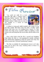 English Worksheet: Reading - Film Review : A Simple Wish