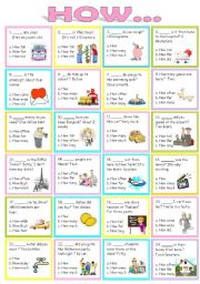 English Worksheets: Wh questions ( How.. )