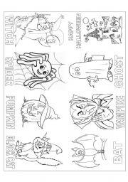 English Worksheet: Mini Book Halloween