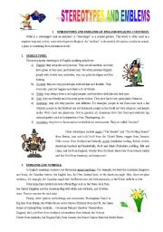English Worksheet: Stereotypes and emblems