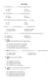 English Worksheets: mini check