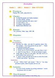 Delightful English Worksheet: Lesson Plan   My Family Images