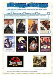 English Worksheet: LISTENING & SPEAKING: FILM SCORES & FILM GENRES - link & key provided