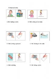 English Worksheets: Outdoor activities