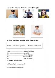 English Worksheets: occupations
