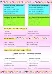 English Worksheets: Agree or Disagree with someone�s opinion