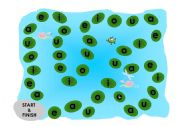 English Worksheets: Frog Hop board and Instructions
